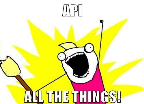 API todas as coisas!