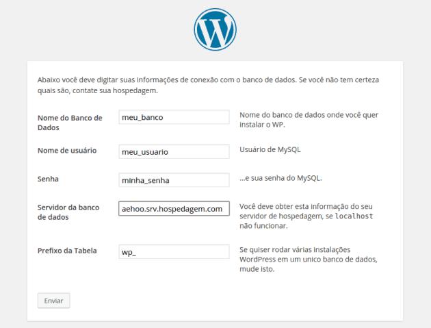Instalando seu site WordPress