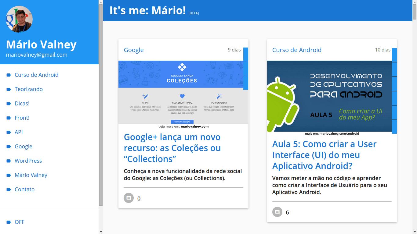 Meu site Desktop
