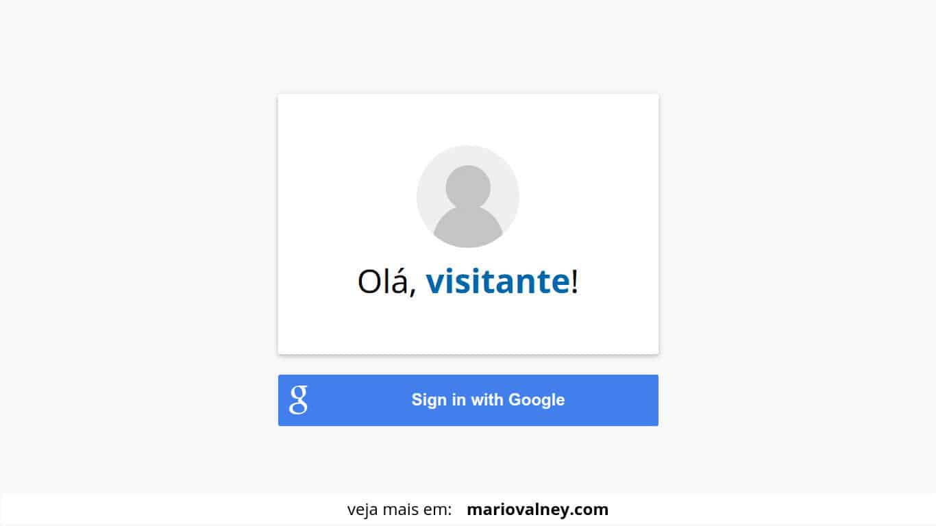 Como implementar o botao de singin with google
