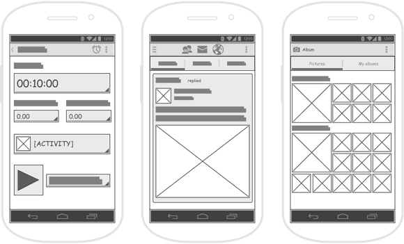 Wireframes Android