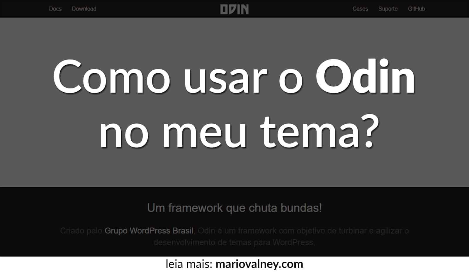 Com usar o Odin