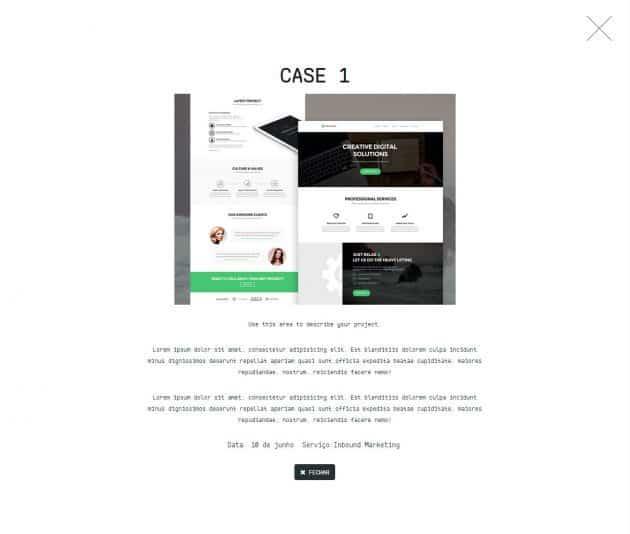 Conteúdo do Case