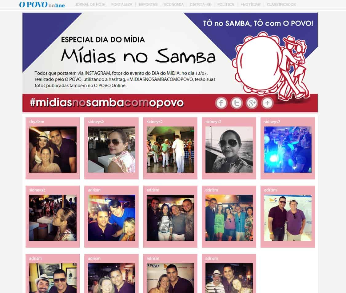 Mídias no Samba - index